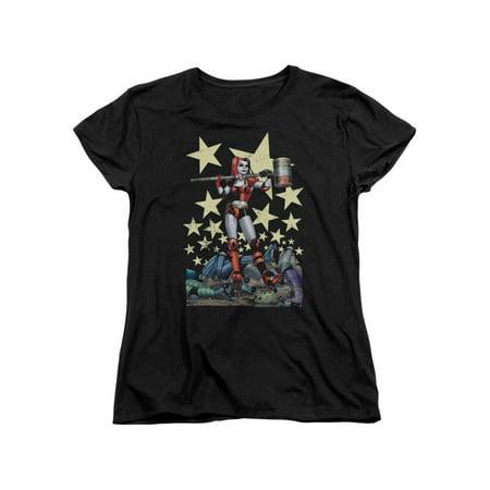Womens Batman Shirt (Batman DC Comics Superhero Harley Quinn Derby Girl Hammer Women's T-Shirt)