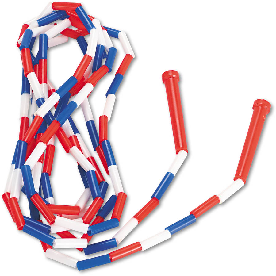 Champion Sports Segmented Plastic Jump Rope, 16', Red/Blue/White