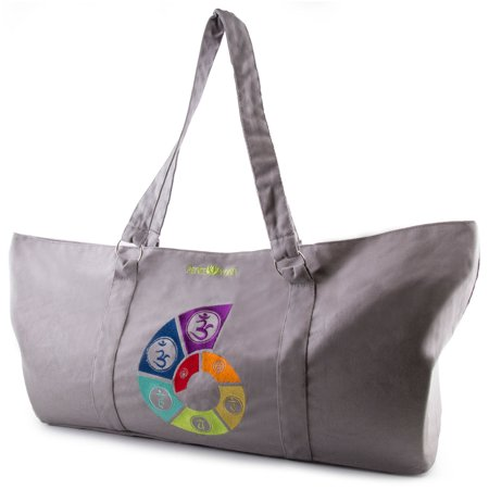 2d6a58d2afb Peace Yoga® Gray Yoga Mat Carrier Tote Bag With Adjustable Straps - Spiral  - Walmart.com