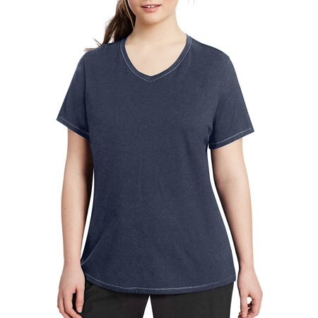 9fd678092198 Champion - Champion Vapor® Women s Plus Jersey V-Neck Tee - Size - 3XL -  Color - Imperial Indigo Heather - Walmart.com
