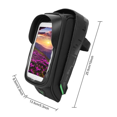 Ejoyous Bike Phone Holder, Waterproof Bike Bag,Bike Motorbike Handlebar Mount Holder Waterproof Bag Case for Phone GPS - image 6 of 8