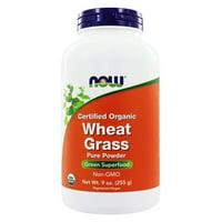 NOW Foods - Wheat Grass Powder Organic - 9 oz.