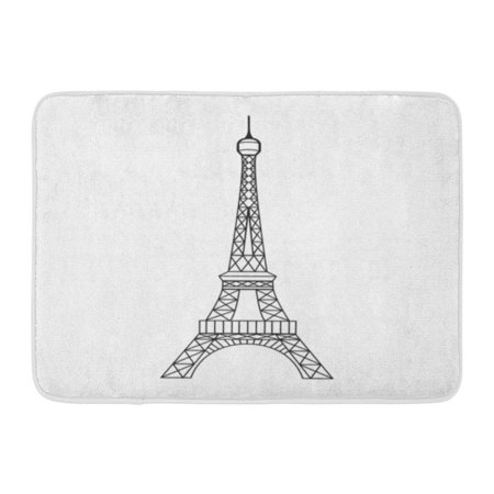 100 Floors Halloween Tower Level 8 (SIDONKU Eifel Eiffel Tower in Paris France Graphic Abstract Architecture Doormat Floor Rug Bath Mat 23.6x15.7)