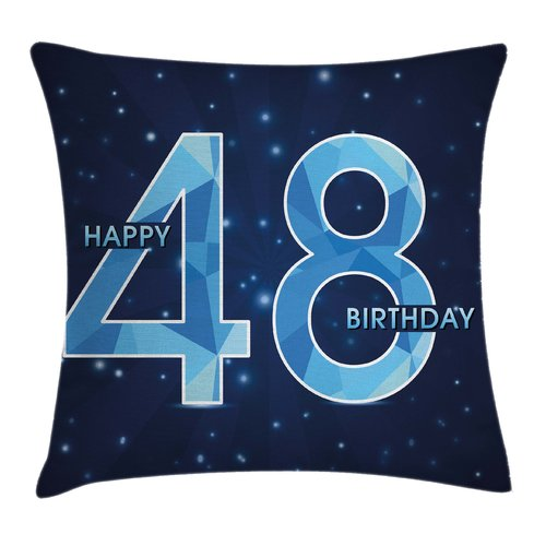 Ambesonne Star Night Sky Birthday Square Pillow Cover