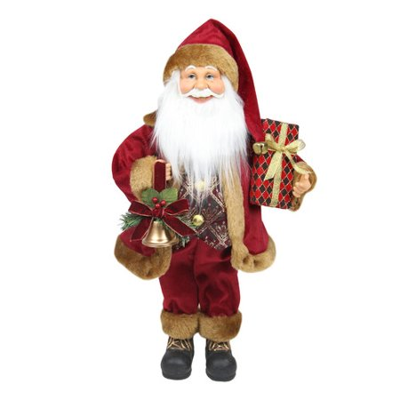 Northlight Seasonal Santa Claus with Bell and Gift Christmas Tabletop Decoration](Christmas Tabletop Decorations)