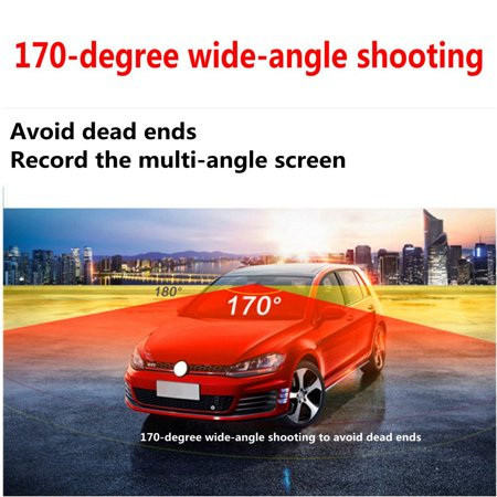 "4"" Dual Lens Car DVR Camera Dash Cam Video Rear Recorder G-Sensor Night Vision HD 1080P  - image 2 of 11"