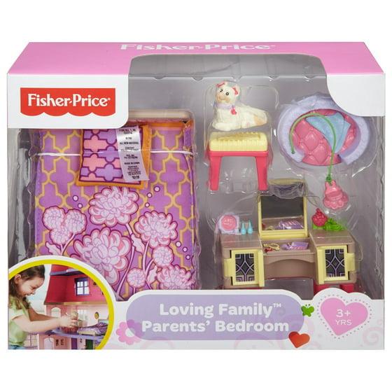 Fisher-Price Loving Family, Parent\'s Bedroom - Walmart.com