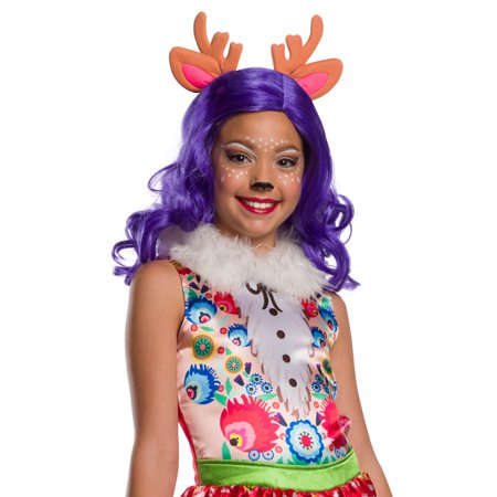 Enchantimals Danessa Deer Girls Wig With Ears Halloween Costume Accessory