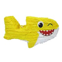Baby Shark Pinata, Yellow, 26in x 12in