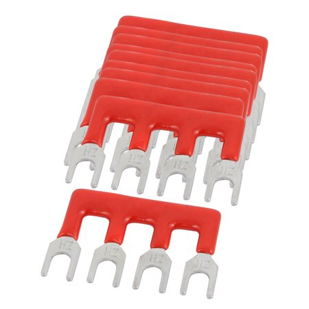 10PCS TB-1504 15A 5mm Pitch 4 Position Terminal Strip Barrier Red for PCB Board