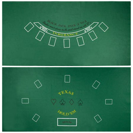 Brybelly Blackjack & Texas Hold 'Em Casino Gaming Table Felt Layout, 36