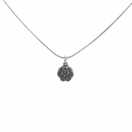 Omega Sterling Silver Crest Charm With Chain