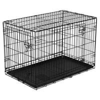 "Vibrant Life Folding Dog Crate, 36"" Double Door Kennel with Divider (ONLINE ONLY PRICE)"