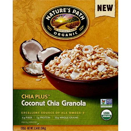 Nature's Path Organic Chia Plus Coconut Chia Granola, 12.34 oz, (Pack of