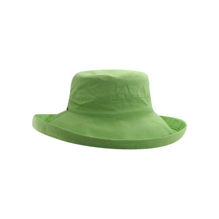 a9f46b26 Scala Women's Cotton Big Brim With Inner Drawstring - Lime 399 - image 1 ...