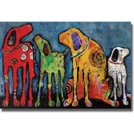 Artistic Home Gallery 2436531S Best Friends By Jenny Foster Premium Stretched Canvas Wall
