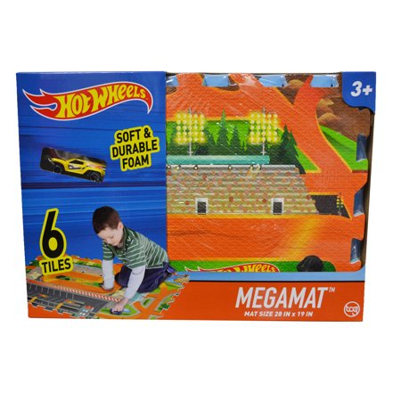 Hot Wheels Mega Playmat With Toy Vehicle Wtop