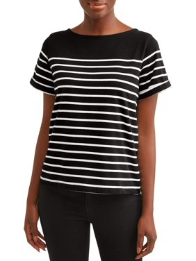 6196ccd9 Product Image Time and Tru Women's Short Sleeve Boatneck T-shirt