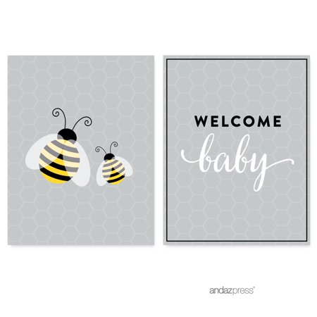 Mama to Bee Bumblebee Gender Neutral Baby Shower Party Signs & Banner Decorations, 20-Pack (Beer Party Decorations)