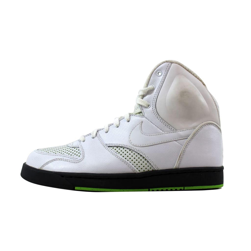Nike Men's RT1 High White/White-Dark Grey-Electric Green 354034-100