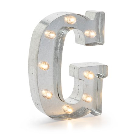 - Silver Metal Marquee Letter 9.875