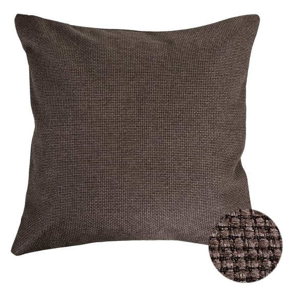 Brown Linen Throw Pillow : Woven Faux Linen Brown Throw Pillow Cover - Walmart.com