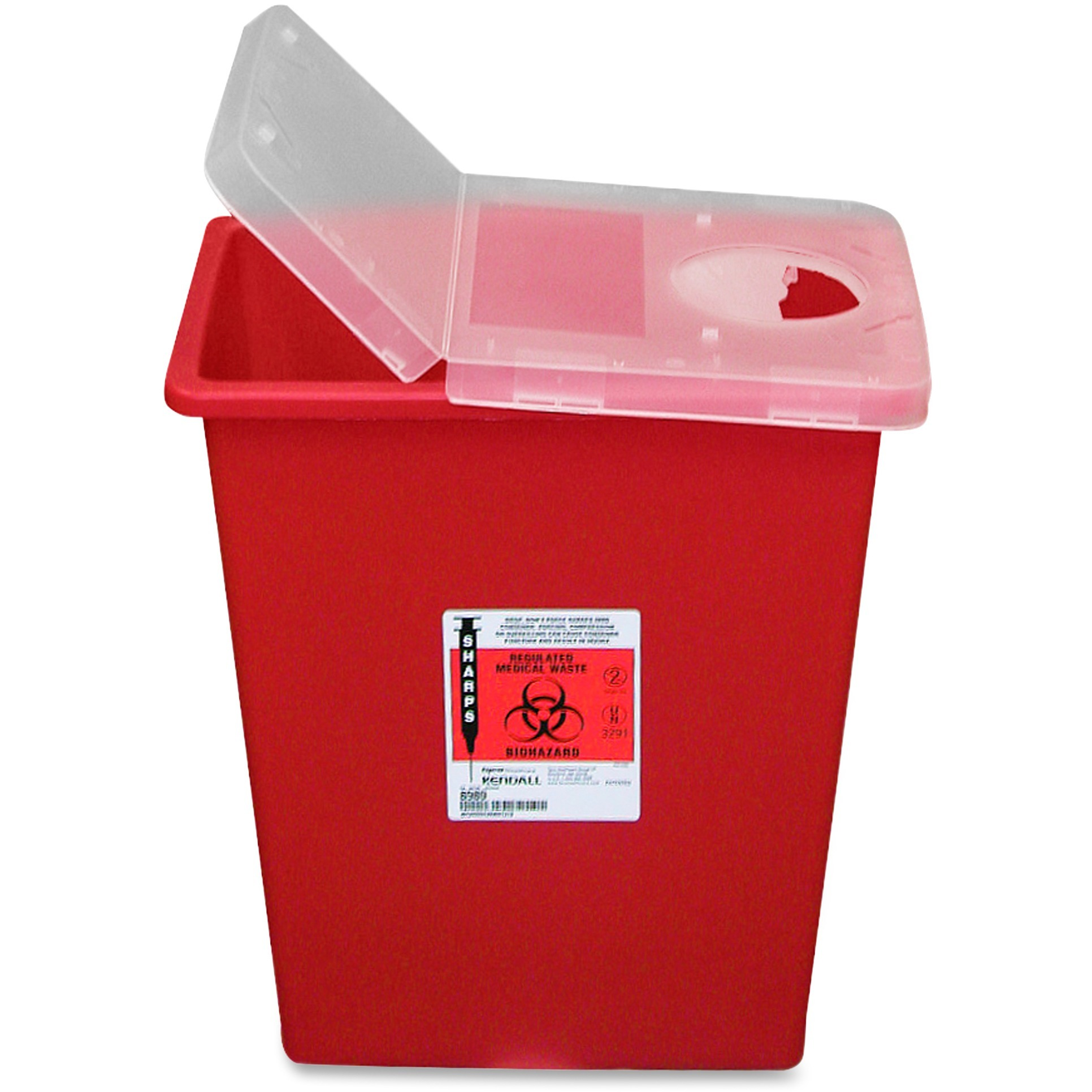 Covidien, CVDSSHL100980, Kendall Sharps Containers with Hinged Lid, 1, Red