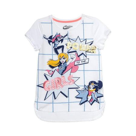 Dc Comic Girls (DC Comics DC Super Hero Girls Power Foil Graphic T-Shirt (Little Girls & Big)