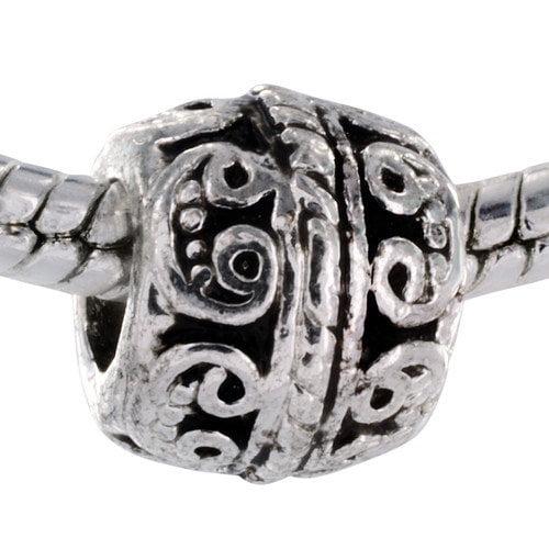 West Coast Jewelry Whimsical Swirl Bead Charm