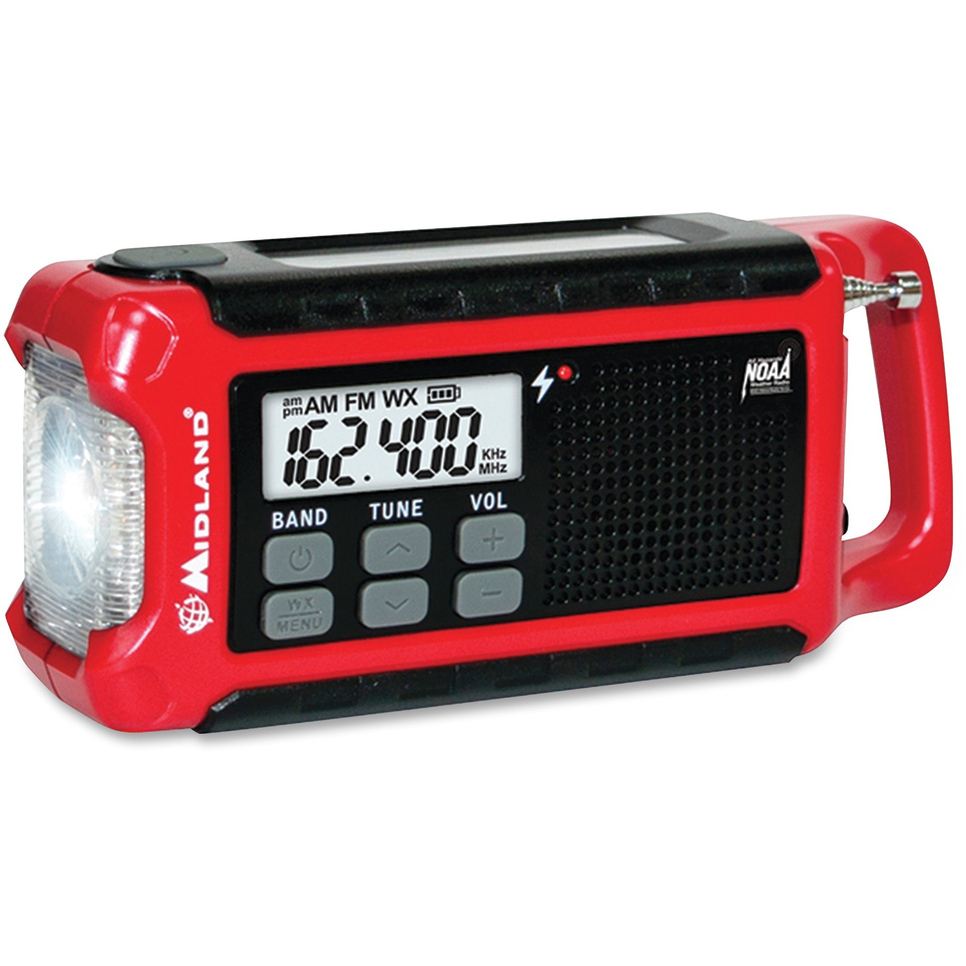 Midland, MROER210, ER210 E+Ready Compact Emergency Crank Weather Radio, 1