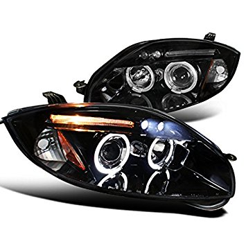 Spec-D Tuning 2LHP-ELP06G-TM Mitsubishi Eclipse Gs Gt Se Dual Halo Led Projector Headlights Smoked
