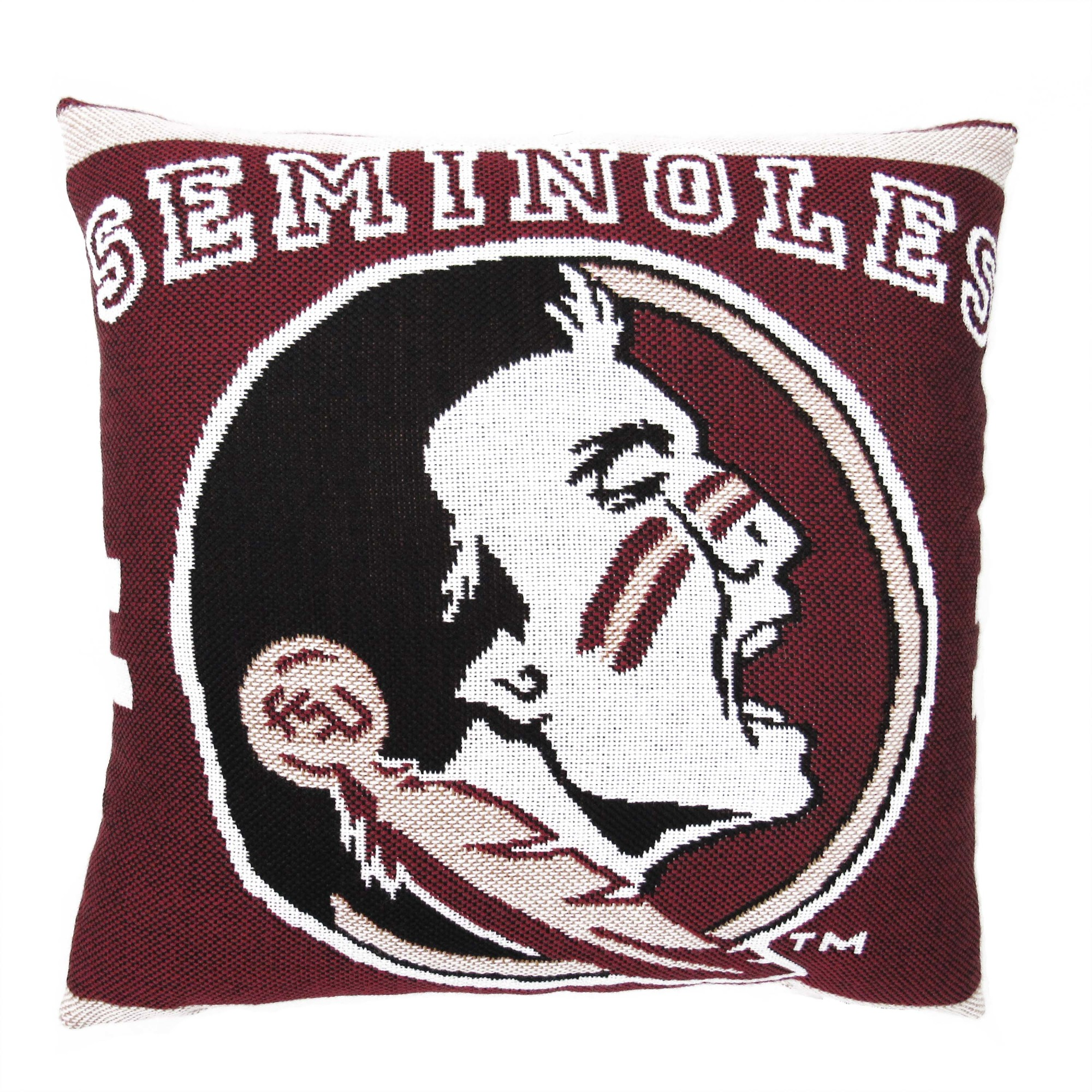 "NCAA FSU 20"" Square Decorative Woven Pillow by The Northwest Company"