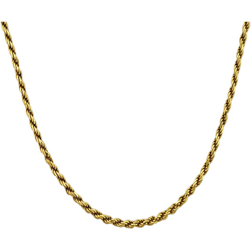 """18kt Gold over Sterling Silver Diamond-Cut Rope Chain, 20"""""""