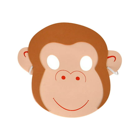 New Halloween Costume Party Foam Zoo Animal Monkey Mask