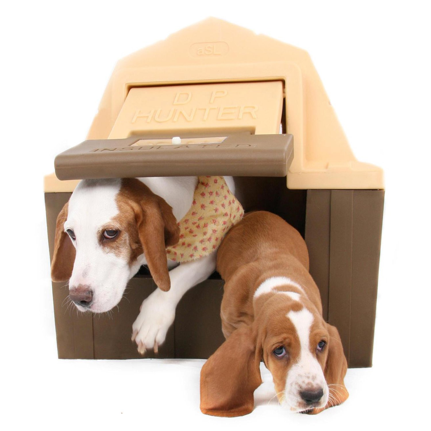 Branded Asl Solutions Insulated Dp Hunter Dog House With Floor