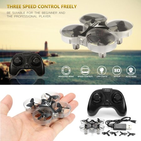 Eachine E012 Mini Cool RC Drone 2.4G 4CH 6 Axis Headless Mode One Key Return LED Quadcopter Toys Christmas Birthday Gifts For Kids Children - Birthday Return Gifts