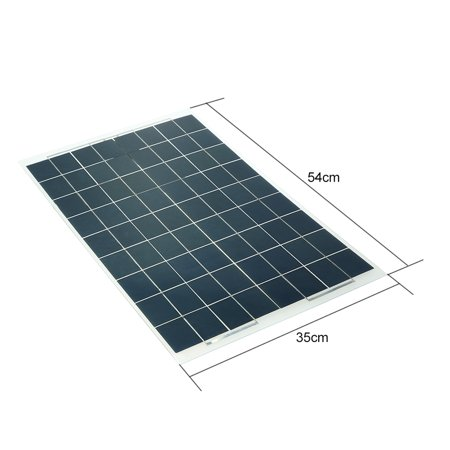 30W 12V Semi Flexible Solar Panel Device Battery Charger Monocrystalline Silicon - image 5 of 7