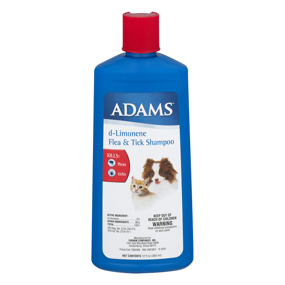 Adams d-Limonene Flea and Tick Killing Shampoo and Coat Conditioner for Dogs and Cats, 12 Ounces