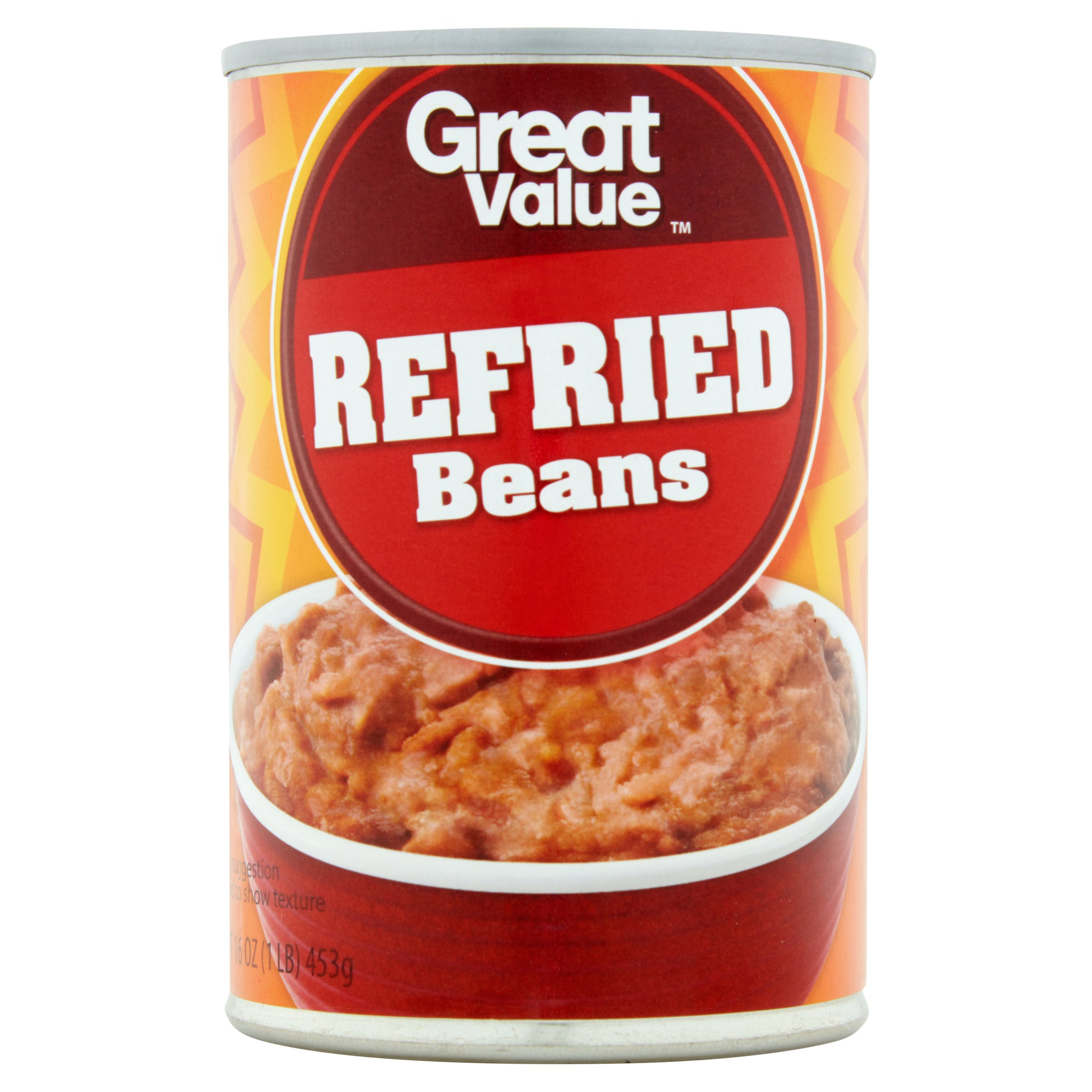 Great Value Traditional Refried Beans, 16 Oz