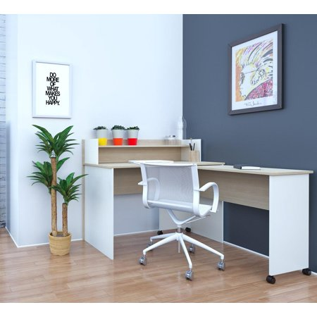 atelier home office kit with 48 inch desk hutch with mobile work