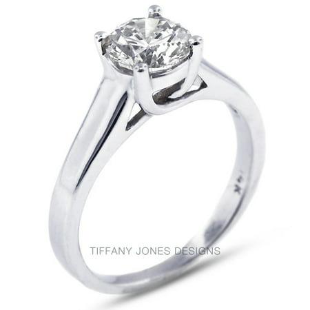 0.63ct I-VS2 Exc Round AGI Natural Diamond 18k Gold Trellis Engagement Ring 4.8g