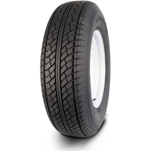 Greenball Transmaster ST205/75R15 6 Ply Radial Trailer Tire and Wheel Assembly, 5 Lug