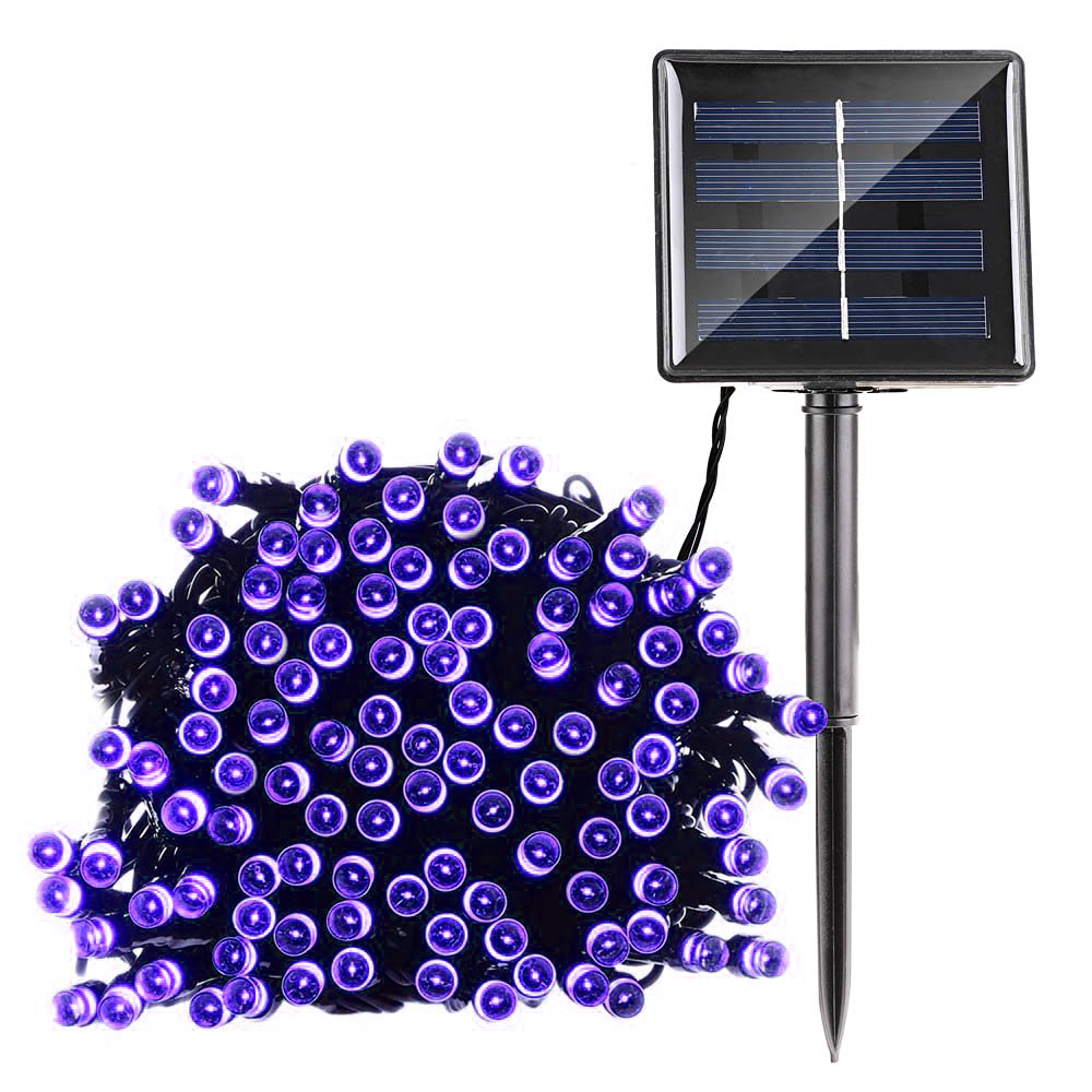 Ediors Solar Outdoor 200 LED String Lights 65ft Solar Powered Waterproof Decorative Light with 2 Working Modes for... by Ediors