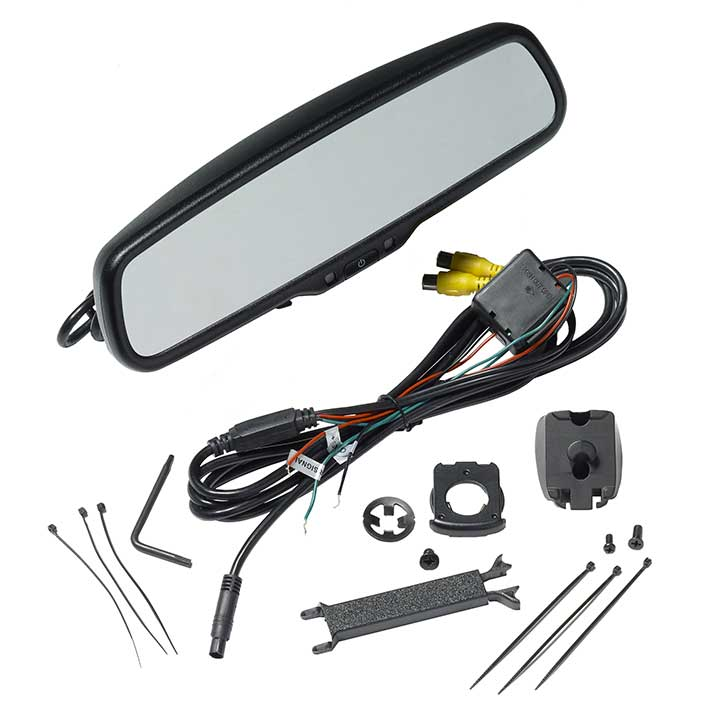 Audiovox RVM200PKG 4.3 Display Replacement Rear View Mirror by Audiovox