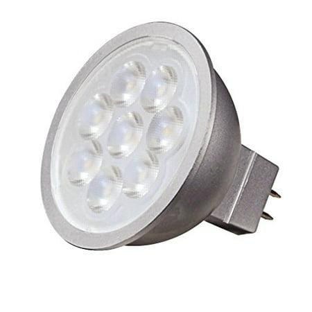 Spread Mr16 Lens - Satco S9496 Series 6.5 watt MR16 LED 3000K 40' Beam Spread GU5.3 Base 12 Volts