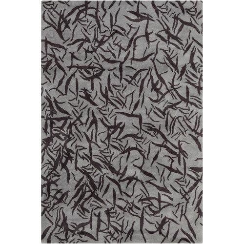 Filament  LLC Cinzia Grey / Black Abstract Area Rug