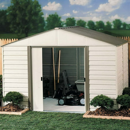 Arrow Vinyl Milford High Gable Steel Shed, 10x8
