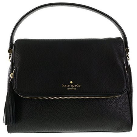 kate spade new york chester street miri pebbled leather shoulder bag (black) (Kate Spade Black Cat)