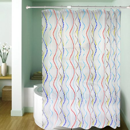 Mildew Resistant Shower Curtain Waterproof Water Repellent Antibacterial 72x72