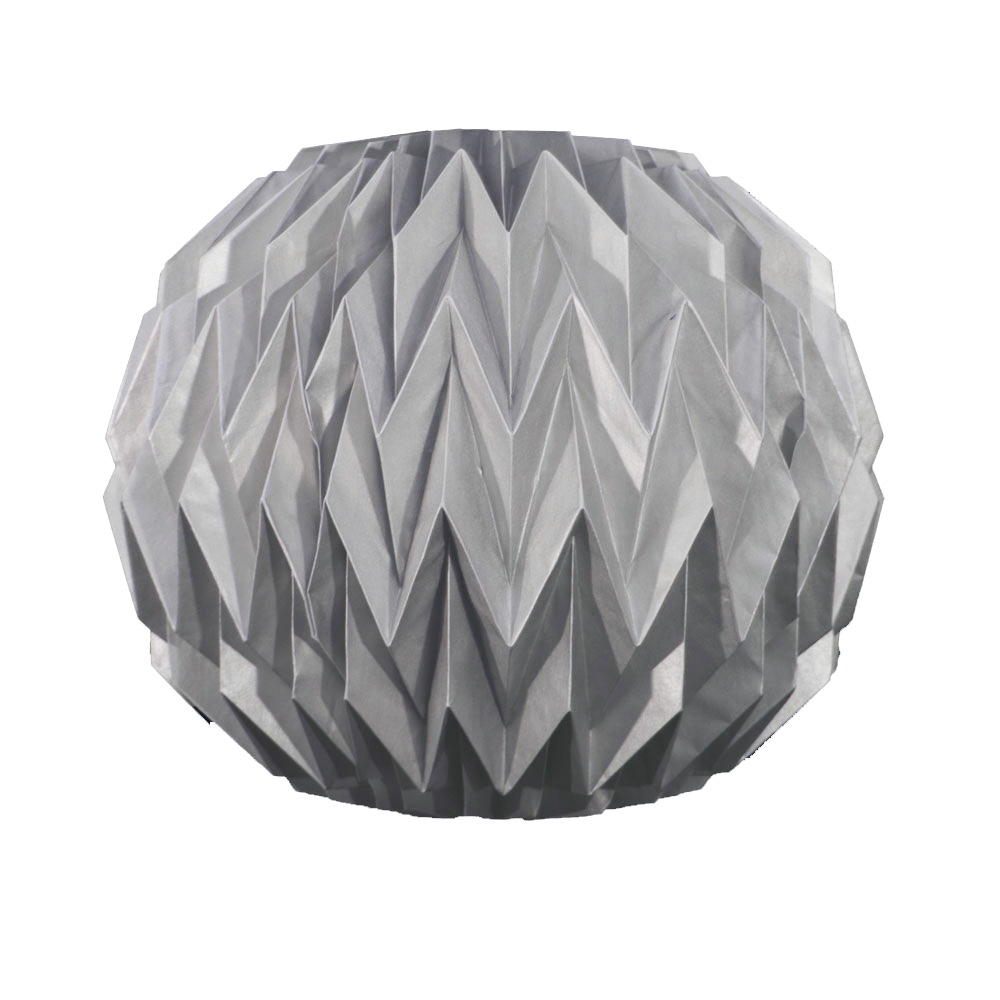 Quasimoon Silver Round Geometrical Shaped Folding Paper Lantern by PaperLanternStore